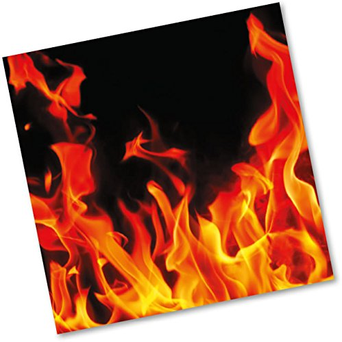 DH-Konzept Lot de 20 serviettes en papier pour anniversaire, barbecue ou fête Motif feu