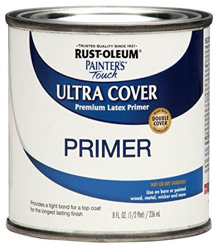 Rust-Oleum 224430T Painter's Touch Latex Primer, Quart, Flat...