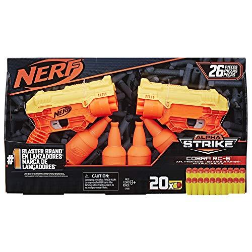 Lança Dardos, Nerf, Alpha Strike Cobra com Alvo Duplo, E7566 - Hasbro, Laranja e Preto