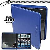 BCW Z-Folio LX Zipper Portfolio Blue 12 Pocket Playset Album