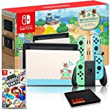 Nintendo Switch Animal Crossing: New Horizons Edition 32GB Console Bundle + Super Mario Party Game