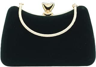 Women Elegant Clutch Bag Portable Velvet Handbag Wedding Cocktail Party Purse