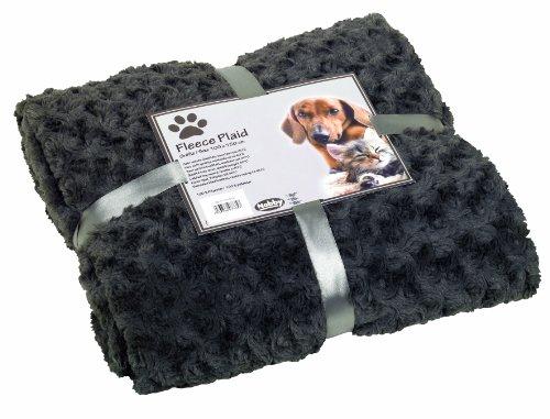 "Nobby Fleece Plaid ""SUPER SOFT"" grau L 150 x 200 cm"