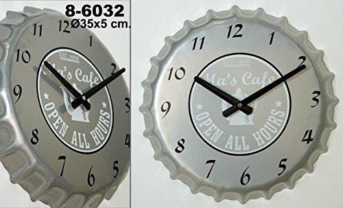 Pide X esa Boca Ma's Café Chapa - Reloj de pared, color gris