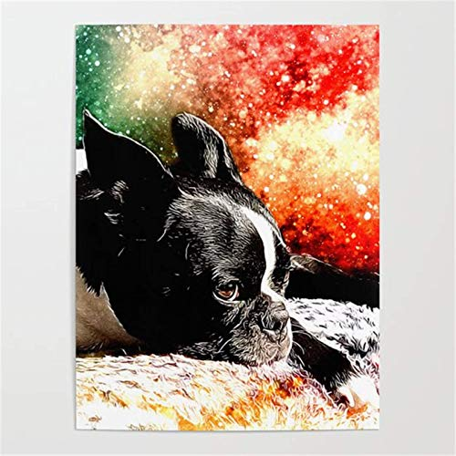 Puzzle 1000 Piezas Perro Mascota con Historia bajo el Cielo Estrellado Animal. Puzzle 1000 Piezas Animales Educativo Divertido Juego Familiar para niños adultos50x75cm(20x30inch)