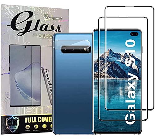Samsung Galaxy S10 Displayschutzfolie [2+1 Pack] Galaxy S10 Vollständige Abdeckung Panzerglas Schutzfolie, [Anti-Scratch] 3D Full HD Coverage Fingerabdruck entsperren Schirm Schutz für S10