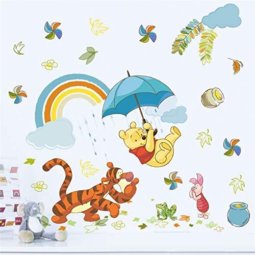 VIOYO Dessin animé Winnie Pooh 40 * 60 cm Stickers muraux pour Les Chambres d'enfants décor à la Maison Disney Animaux Zoo Stickers muraux Bricolage Art Mural Bricolage Affiches