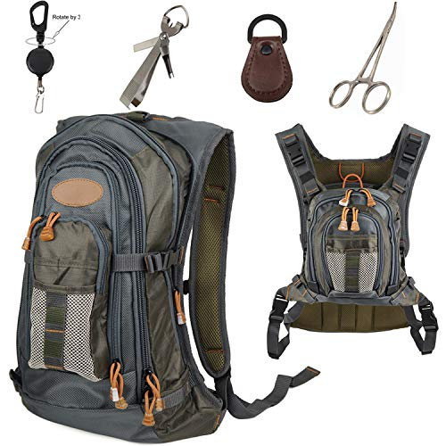 Aventik Fly Fishing Chest Bag- Fishing Chest Vest Fishing Backpack
