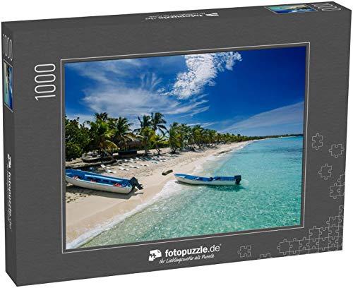 fotopuzzle.de Puzzle 1000 Teile Zwei Fischerboote am Catalina Island Beach, Einer einsamen Insel bei Punta Cana, Dominikanische Republik (1000, 200 oder 2000 Teile)