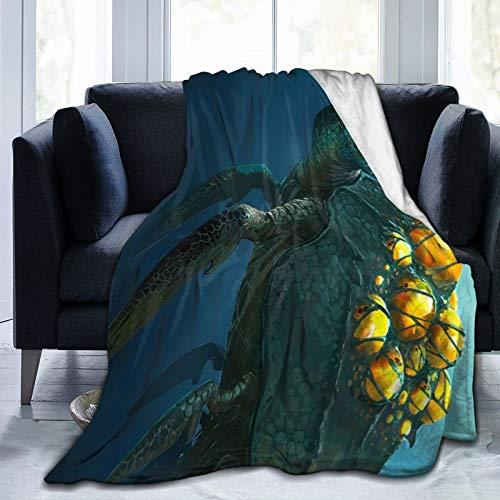 Atsh Subnautica Ultra Soft Throw Blanket Flannel Fleece All Season...