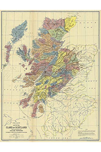 Clans of Scotland Historical Map
