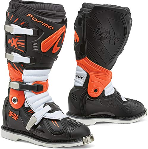 Forma Terrain TX 2.0 Motocross laarzen hoog 45 EU zwart/wit/oranje.