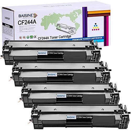 BAISINE Kompatibel 4er Pack HP M15w Toner mit 44A CF244A Schwarz Druckerpatrone mit Chip für HP Laserjet Pro M15a M15w MFP M28a M28w Drucker 1000 Seiten