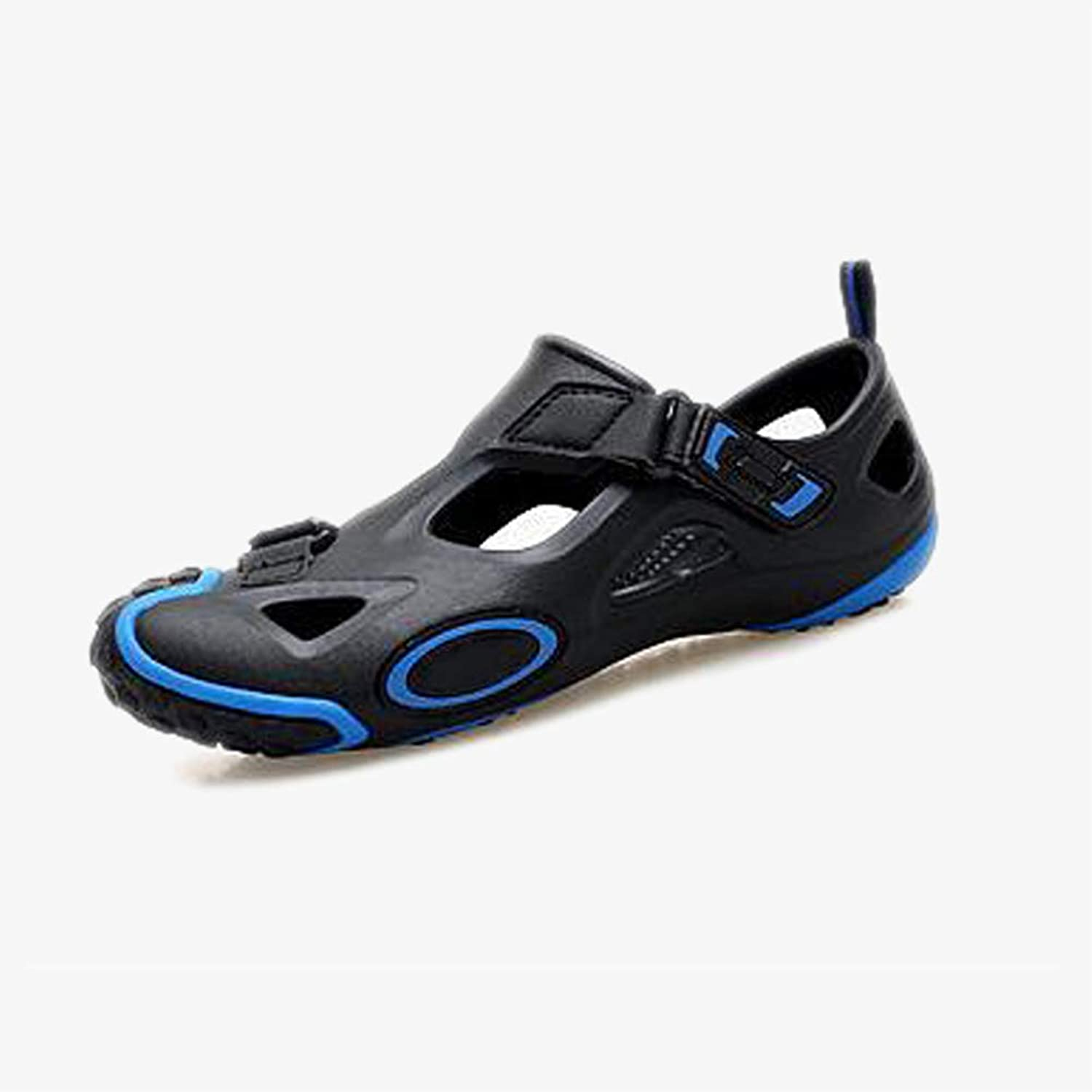 Couple Beach sandals shoes Outdoor Sports Sandals for Summer Black bluee Rubber Non Slip Splice