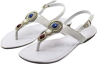 Sandália feminino Rasteira Borgatto Sintético Branco