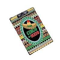 印刷者 クリップボード 用箋挟 クロス貼 A4 短辺とじ 答案用紙入れソンブレロにメキシコの模様 (1個)