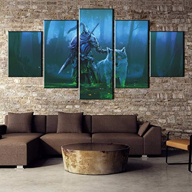 Xzfddn Hd Gedruckt 5 5 5 Stück Drucken Bild Poster Spiel Dark Souls Für Moderne Dekorative Schlafzimmer Wohnzimmer Home Wall Art Decor B07MMY4DQ6 495029
