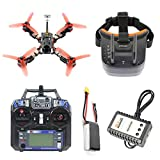 QWinOut Frog 218mm 2.4G 6CH RC Racer Drone RTF Betaflight F4 PRO V2 BLHeli-s 30A 5.8G 25/200/400mW VTX Mini 700TVL Camera FPV Quadcopter (with FPV Goggle)