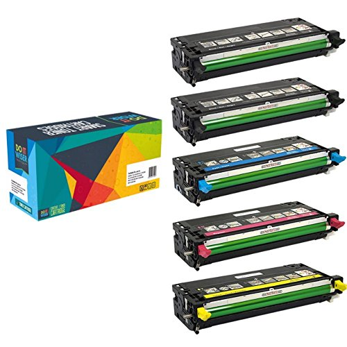 Do it Wiser Compatible High Yield Toner for Dell 3110 3110cn 3115 3115cn - 8,000 Pages - 5 Pack