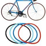 SolUptanisu Neumáticos Sólidos de Bicicleta,700 x 23c Neumáticos de Bicicleta sin Cámara Rueda Sólidos de Ciclismo de Bicicleta de Montaña de Carreras MTB BMX, Negro, Azul, Rojo(Negro)
