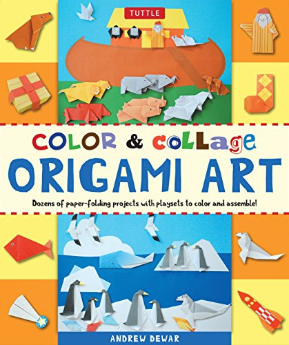Color & Collage Origami Art Kit: Dozens of Paper-folding Projects With Playsets to Color and Assemble!