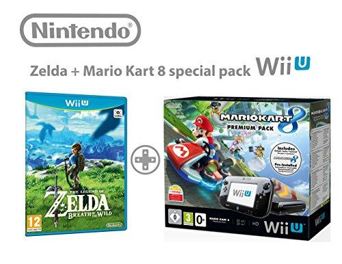 Nintendo Wii U Konsolen Premium Pack 32GB + Mario Kart 8 + The Legend of Zelda: Breath of the Wild.