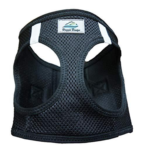 Doggie Design Amercan River Ultra Choke-free Harness (Black, Large (Chest 19