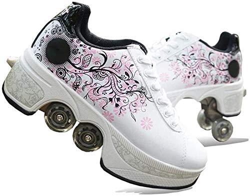 Baiyeee Defortter Roller Shoes Rollers Estudiantes Scooter Skateboard, Adecuado para Fiestas, Disco, Danza, Cumpleaños,38