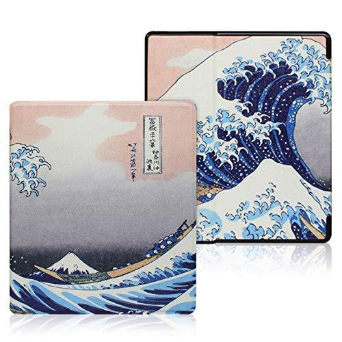 YYS Peint Housse Étui pour Kindle Oasis de 7 po (10ème génération 2019 et 9ème génération 2017), Slim Cuir Coque Cover Case de Protection avec Fonction Veille/Réveil Automatique