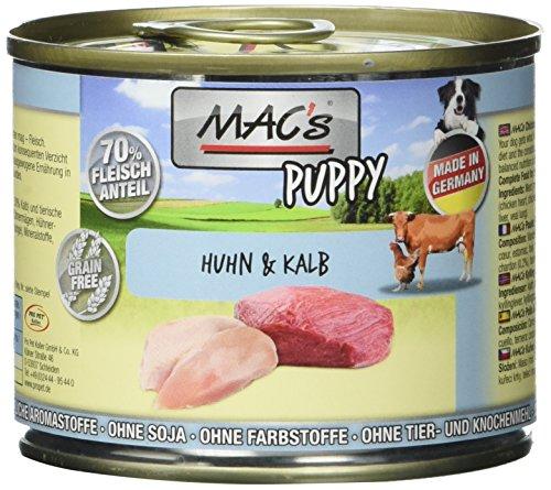 MAC's Puppy Huhn & Kalb, 6er Pack (6 x 200 g)