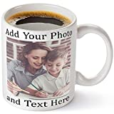 Customized Ceramic Coffee Mugs with Personalized Text and Photo with variety fonts, Personalized White Ceramic 11 Oz Gift For Him, For Her, For Husband, For Wife, custom mug