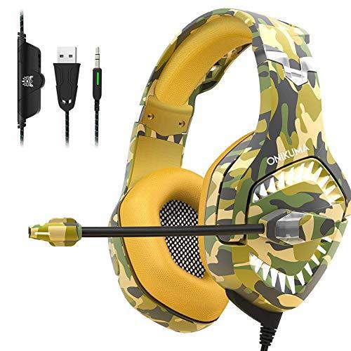 MZZYP Auriculares de Juego para PS4, reducción de Ruido Auriculares de música con Cable con micrófono 3.5mm Plug Surrove Surreo, para Playstation 4 / Xbox One/Teléfono/Laptop