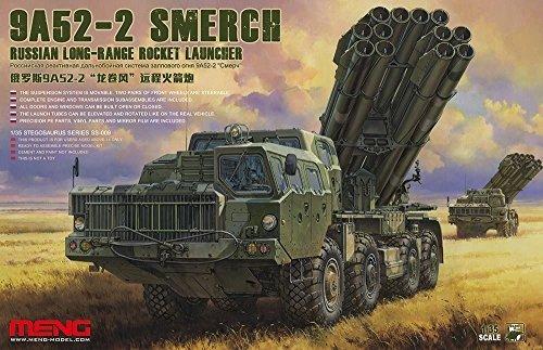 Meng 1:35 Scale Russian Smerch 9A52-2 Long-Range Rocket Launcher Model Kit (Multi-Colour)