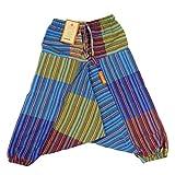 Simandra Kinder Patchwork-Hose XS-XXL - bunt I Haremshose mit Gummizug aus 100% Baumwolle I Aladinhose mit 2 Taschen + Komfort + Bewegungsfreiheit
