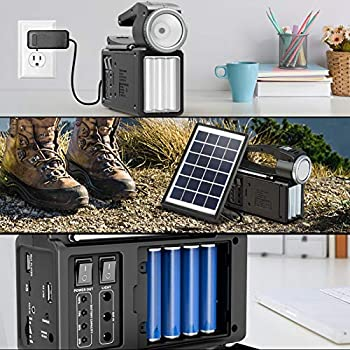 Raddy RF-L3 Radio d'urgence Recharge Solaire, Batterie 4800mAh, Bluetooth Radio FM/AM avec Lampe pour les Urgences, Camping et la Randonnée