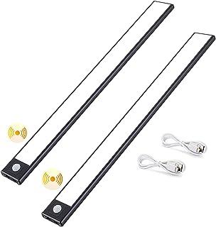 Bojim Lot de 2 Lampe de Placard à LED Sans Fil, Détecteur de Mouvement, Eclairage USB Rechargeable 9MM Ultra-mince, SMD 67...