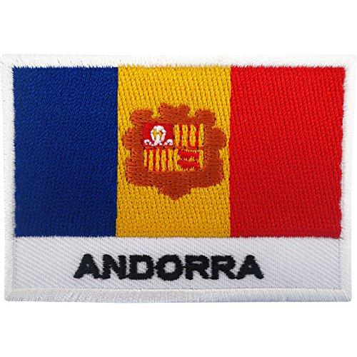 Andorra bandera parche hierro en insignia/Sew en bordado, diseño de bandera bordado Applique