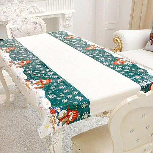 XATAKJJ Waterdichte Kerst Tafelkleed Bedrukt Rechthoekige Wegwerp Tafelkleed Transparant Tafelhoes Keuken Patroon, Als foto tonen