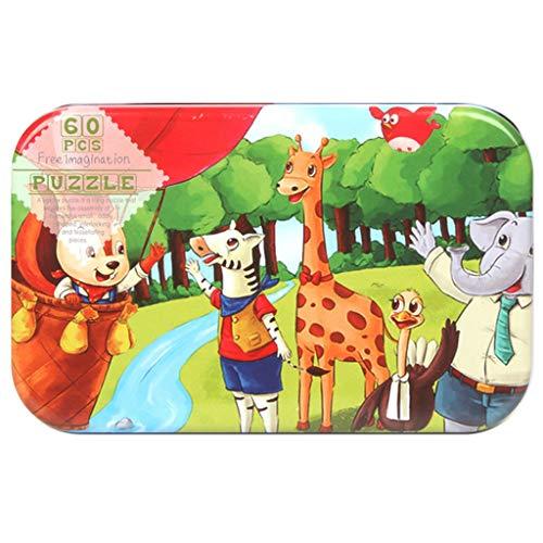 BOLANQ Vêtements Holzpuzzles für Kleinkinder, die Lernpuzzlespielzeug Lernen 60PC
