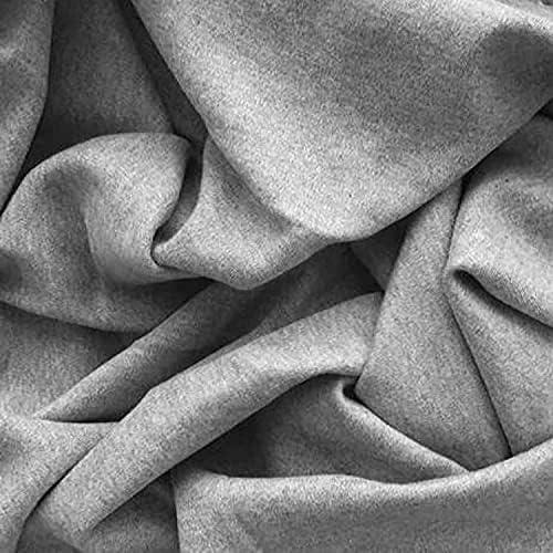Organic Ranking TOP14 Cotton Interlock Fabric - 20 Yards Max 59% OFF Grey Melange