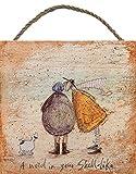 Sam Toft EMB10793 Impression sur Bois, Multicolore, 20 x 20 cm