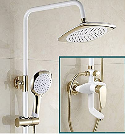 NewBorn Faucet Water Taps Hot And Cold Water The Shower Full Copper White Bathroom Showers Packaged Booster Sprinklers Woman Wash In Cold Water Water Tap Handheld Shower