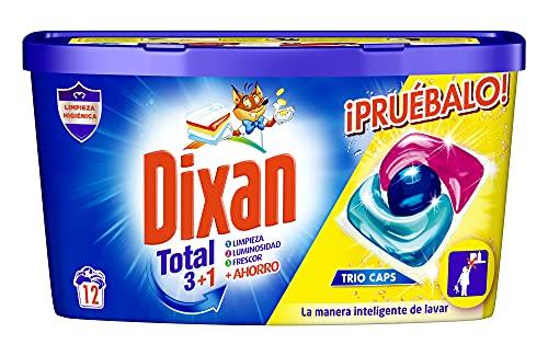 Dixan Detergente en Cápsulas para Lavadora Trio Caps Universal - 12 Lavados
