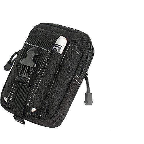 K-S-Trade Gürtel Tasche Kompatibel Mit OnePlus 6T McLaren Edition Gürteltasche Holster Schutzhülle Handy Hülle Smartphone Outdoor Handyhülle Schwarz Zusatzfächer
