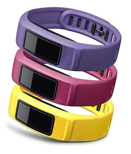 Garmin Wechsel-Armbänder Vívofit 2, Gelb/Pink/Violett, Gr.L, 010-12336-04