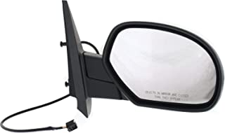 QUALINSIST Compatible with 2007-2013 Chevrolet Silverado 1500 Driver Left Side View Mirror with Manual Folding Heating GM1320325