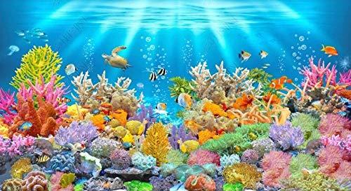 Papel Pintado Pared 3D Fotomurales Hd Mundo Submarino Coral Peces Nadando Papel Tapiz 3D Mural Pared Papel Salon Dormitorio Pared Decorativos-430cmx300cm