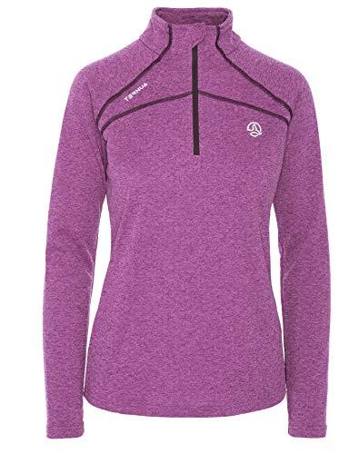 Ternua Lucilla 1/2 Zip W Camiseta, Mujer, púrpura (Night Violet), L