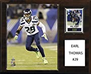 "Full lens covers to protect cards, pictures Licensed 8""x10"" Earl Thomas Photo Officially Licensed Trading Card 12""x15"" cherry wood plaque Perfect for displaying in an office, rec room or bedroom Full lens covers to protect cards, pictures"