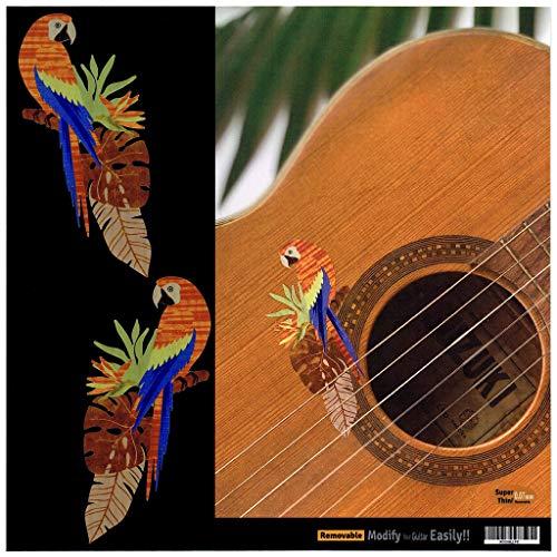 Inlay Stickers Stickers voor Gitaar, Bas & Ukulele - Exotische vogels (papegaaien)